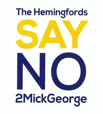 SayNO2MickGeorge logo